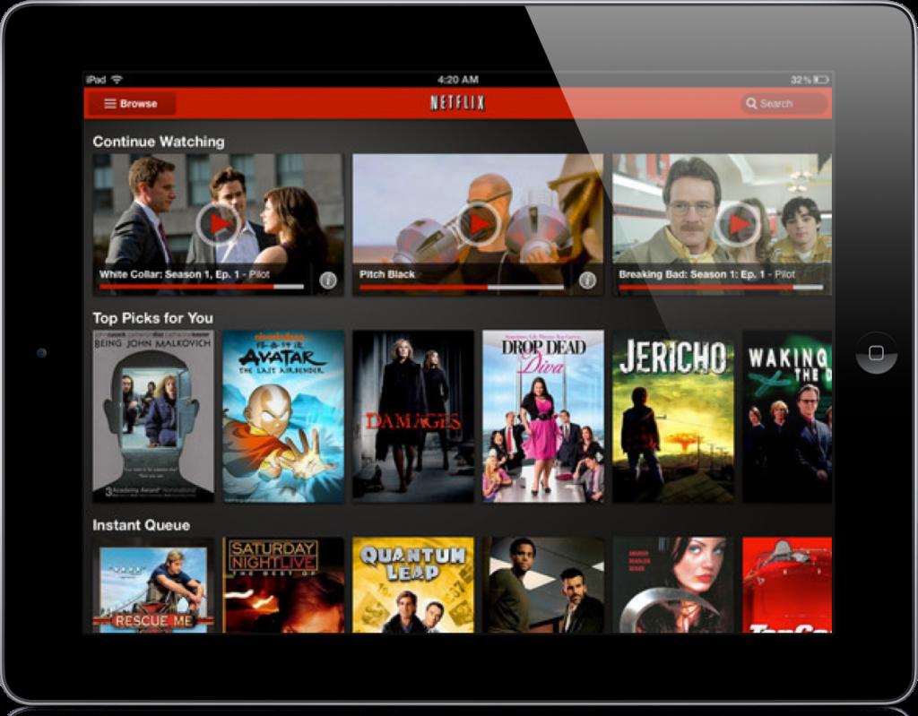 Netflix iPad Europe