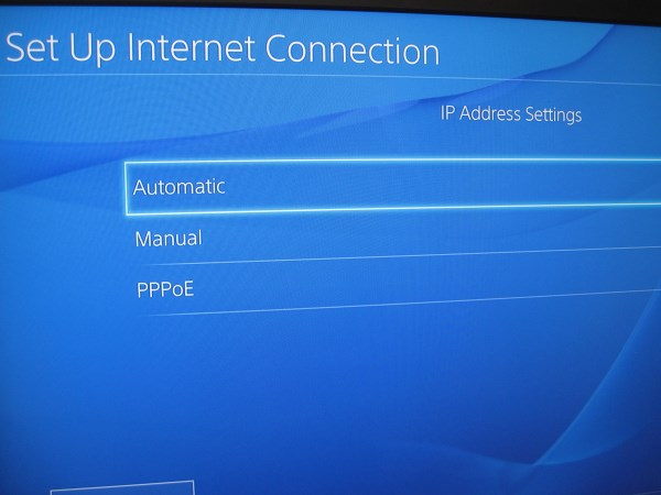 IP address settings