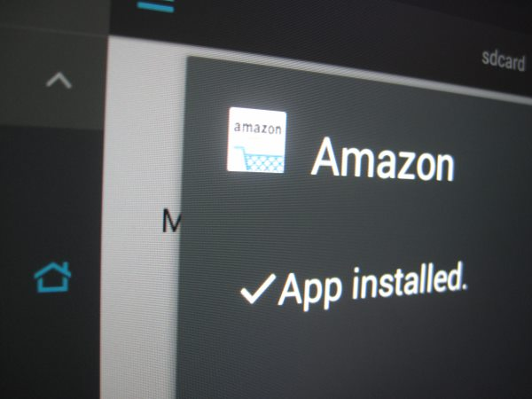 Sideloading the amazon apk